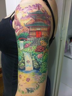 My first big piece. Created in my mind, drawn and tattooed by Brett Clifton of Vision Skin Lawnton
