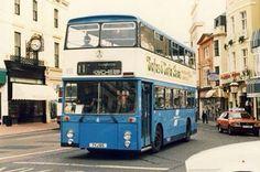 Blue double decker Brighton bus Brighton Beach Uk, Brighton And Hove, Bus Coach, Busses, Public Transport, Coaches, Robin, Past, Trucks