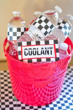 Race Car Birthday Party Ideas | Through Clouded Glass More