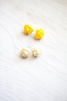 Rose Earrings  by WhiteLilyDesign, $10.00