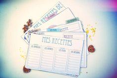 Cartes de recette de cuisine Pour cette troisième création de Noël, j'ai fabriqué un kit de cartes de recettes de cuisine, kit à imprimer et à offrir (ou à garder...