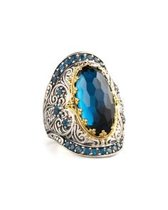 London+Blue+Topaz+Ring+by+Konstantino+at+Neiman+Marcus.