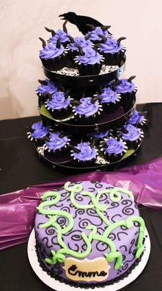 Maleficent Cake/CupCakes by Sweet Cakes by Sharmin