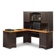 Sauder Office - Sauder Reversible Ldesk With Hutch