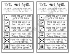 Roll and Spell - original
