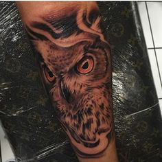 owl tattoo color on Instagram Color Tattoo, Owls, Indian, Tattoos, Instagram, Tatuajes, Tattoo, Owl, Tawny Owl