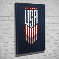USA Eagle and Flag Wall Art Print Design Therapist Bag