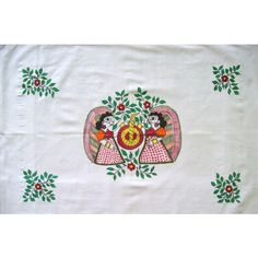 This set of two pillow covers is made up of 100% white cotton fabric.  The handmade Madhubani art motif displays the daily household chore done by the housewives in their backyard (Aangan) with lots of flowers n leaves around.  The whole idea behind these pillow covers is to uplift your mood the moment you enter your bedroom.   Fabric:Fine cotton  Dimensions:-Length 20 inchesx28 inches  Price: INR 399/-