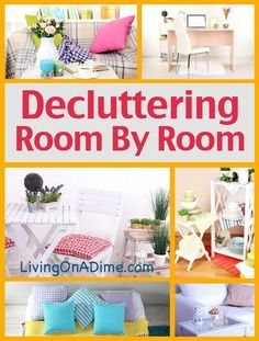 Here are a few tips from Living on a Dime about about decluttering your home. Get your house in order as the summer comes to an end! #declutteringahouse #tipstodeclutteryourhome