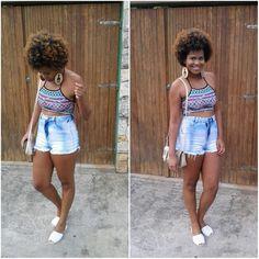 Look short jeans e cropped - Eva Lima