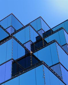 Assimilate by Camera Collector Cobalt, Blue Building, Abstract City, Blue Space, Commercial Architecture, House Of Cards, Facade Design, Facade Architecture, Architectural Elements