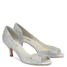 Kitten heeled Benjamin Adams shoes. Not released til may