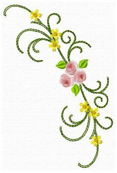 Flowers 4 - Chiocciolaricami | OregonPatchWorks Custom Embroidery, Embroidery Thread, Machine Embroidery Designs, Free Design, Flowers, Scrappy Quilts, Capes, Royal Icing Flowers, Flower