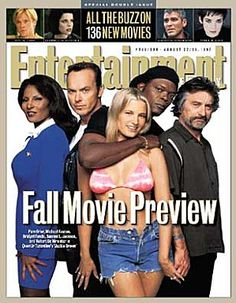 Jackie Brown Entertainment Weekly cover Great Movies, New Movies, Bridget Fonda, Books A Million, Jackie Brown, Movie Previews, Michael Keaton, Entertainment Weekly, Journals