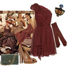 Miss Dark Autumn goes to the Opera, created by teamonkey on Polyvore