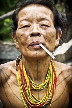 woman of the mentawai tribe, indonesia.