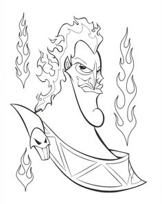 disney villains coloring pages Free Coloring Pages Pinterest