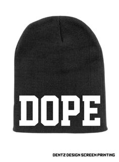 Black DOPE Beanie Slouchy Knit Hat