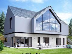 Einfamilienhaus ALTO SD.500.2 • Massivhaus von Heinz von Heiden • Großzügiges Energiesparhaus mit dreieckigem verglasten Erker • Jetzt bei Musterhaus.net informieren!