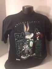 Philedelphia Eagles Tshirt With Buga Bunny Size Large