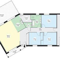 Découvrez les plans de cette maison de plain-pied 7 sur www.construiresamaison.com >>>