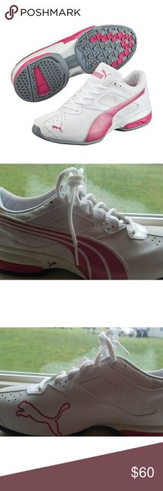 New White With Pink Puma Sneakers 8 New Puma Sneakers Puma Shoes Sneakers