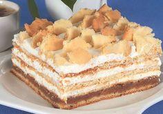 mietanowiec z jab? Polish Desserts, Polish Recipes, Polish Food, Love Cake, Vanilla Cake, Cheesecake, Cooking Recipes, Bread, Cookies