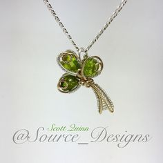 Yal ready for this #peridot  #clover pendy??? Serious juice here.  Simple, yet…