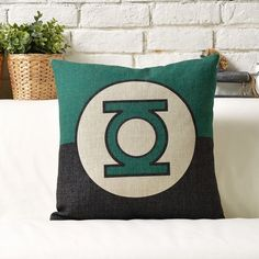 Green Lantern Throw Pillow, Decorative Pillow Cover, Cushion Cover