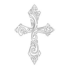 Download Free ... tribal cross stencil Crosses Stencils Art Crosses Rose Stencils Tattoo to use and take to your artist.