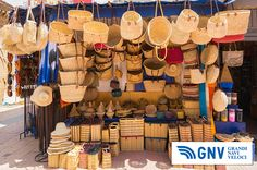 #Wicker #baskets and #bags on #street #market. Discover #GNV routes in our website:www.gnv.it/en/