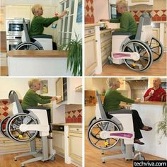 Elevating wheelchair - http://99viral.com/simple-ideas-that-are-simply-genius-part-23/