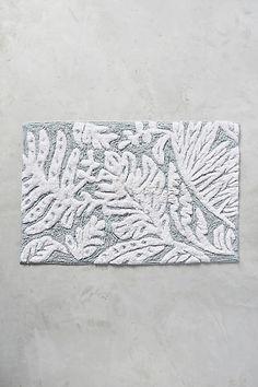 Anthropologie White Palms Bath Mat