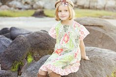 Childrens Clothing  Girls Fall Peasant Dress  Sizes by CoralBelles, $45.00