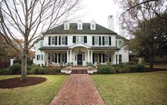 stone Colonial Houses   Call the lady of the house a romantic. She wanted a home that reminded ...