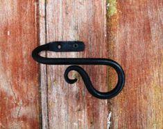 Curtain Tie Back Leaf End por FurnaceBrookIron en Etsy