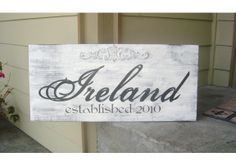 Original Family Name Sign with an Embellishment and Established Date Wedding Signs, Wedding Day, Diy Art Projects, Family Name Signs, Newlywed Gifts, It Goes On, Newlyweds, Anniversary Gifts, Embellishments