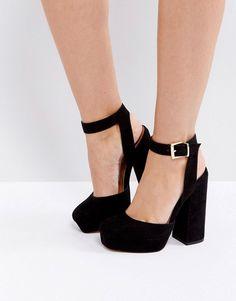 ASOS PINATA Platform Heels - Black