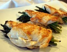 Easy Chicken Asparagus Roulade