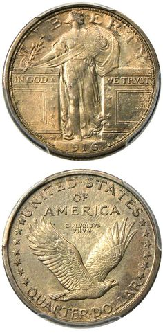 David Lawrence Rare Coins has this item on Collectors Corner - 1916 25C Standing Liberty MS63FH PCGS