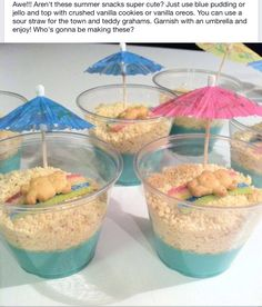 Cute cooking project for ocean/summer/beach theme