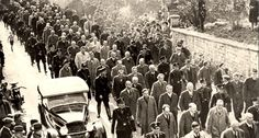Baden Baden, Germany, Jews rounded up for deportation to Dachau, 10/11/1938.