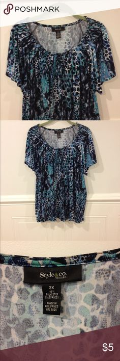 Style &Company 3X top good condition Size 3X Style & Company top good condition Style & Co Tops