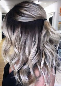 Unique blonde hair colors with shadow roots for 2019 - amazing mustard . - Unique blonde hair colors with shadow roots for 2019 – amazing mustard yellow nail arts and desig - Luxy Hair, Curly Hair Styles, Ombre Hair Styles, Best Ombre Hair, Hair Color Balayage, Dark To Blonde Balayage, Ashy Blonde Hair, Dark Hair Blonde Highlights, Blonde Hair With Color