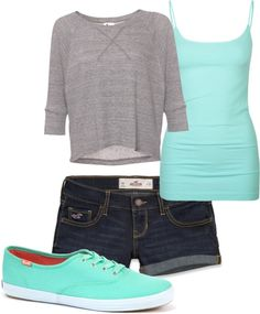teal and grey...for a casual day ;)
