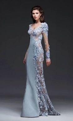 Exquisite Dress Collection From Mireille Dagher Fall Winter - Be Modish - Work Outfits Bridesmaid Dresses, Prom Dresses, Formal Dresses, Wedding Dresses, Elegant Dresses, Pretty Dresses, Robes D'occasion, Looks Chic, Mermaid Dresses