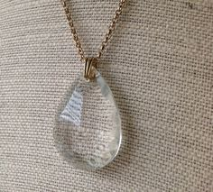 Antique Chandelier Pendant Necklace with Vintage by behressentials, $40.00
