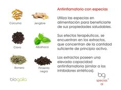 especias como antiinflamatorio