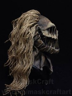 Mask scarecrow (bogy) by Maskcrsft Halloween Scarecrow, Halloween Make, Halloween Ideas, Halloween Decorations, Badass Pictures, Aerosol Paint, Post Apocalyptic Fashion, Scary Mask, Character Design Inspiration