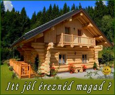 The Social Network for Agriculture Small Log Homes, Log Cabin Homes, Log Cabins, Mountain Cabins, House In The Woods, My House, China Cabinet Makeovers, Cabana, House Plans